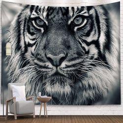 태피스트리 패브릭 포스터 - 화이트 타이거 (150x130cm)