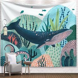 태피스트리 패브릭 포스터 - 고래의 꿈 (150x130cm)