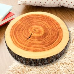 패브릭 통나무 원형 방석