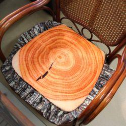 통나무 레이스 쿠션 방석(43cm)