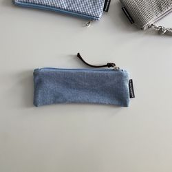 연청 필통(Light wash jeans pencil case)