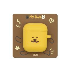 [한톨상점] 반곰이 얼굴 에어팟케이스(노랑)