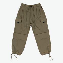 NYLON 2 TUCK POCKET PANTS (KHAKI OLIVE)