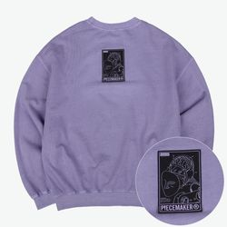 PIGMENT REVERSIBLE SWEAT SHIRTS (PURPLE)