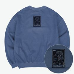 PIGMENT REVERSIBLE SWEAT SHIRTS (NAVY)