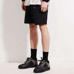 NYLON BELTED SHORTS (BLACK)