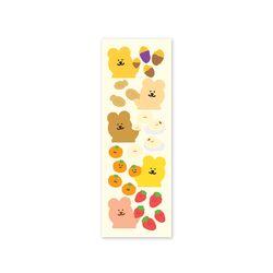 [한톨상점] 반곰이의 겨울간식 씰스티커