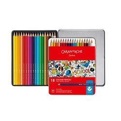 까렌다쉬 수채색연필 스쿨라인 18색 1290-318