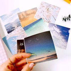 감성사진 9pcs 원형 데코 스티커 [5매] 8종 - 칼선스티커