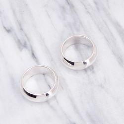할로우 볼드 포인트 반지 실버 925