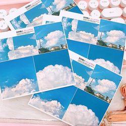 감성 PHOTO 데코 스티커 No.4 (sky)