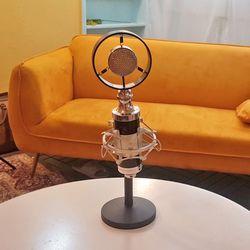 1인개인방송용유튜브장비 고품질 T4스탠드마이크 블랙