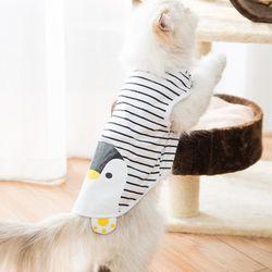 봉봉펫 고양이 강아지 펭귄 스트라이프 옷