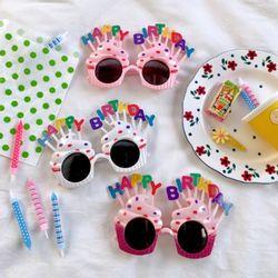 생일 파티 안경 선글라스 3color