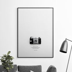 카메라 감성 그림 A3 포스터+알루미늄액자