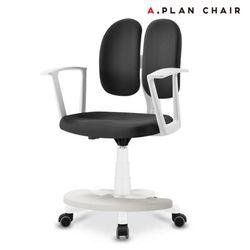 D3 화이트 학생용 듀얼백 의자(DWF350)