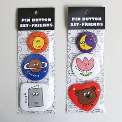 PIN BUTTON SET - FRIENDS (A-B)