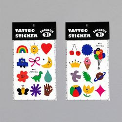 TATTOO STICKER - FRIENDS (A-B)