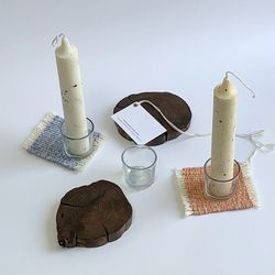 Speckled candle set [2colors]