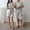 White Stripe Pajama Set - 커플룩