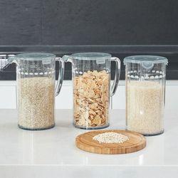 미라클 잡곡통 2kg 냉장고에 쏙 쌀통 쌀보관함