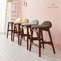 마카롱 원목 바텐형 홈바 의자 AD011