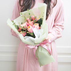 플플 프리미엄 부부젤라 장미 생화꽃다발