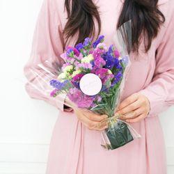 플플 스타티스 미니 생화꽃다발