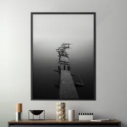 올드와프 감성 그림 A3 포스터+알루미늄액자