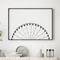 대관람차 감성 그림 A3 포스터+알루미늄액자