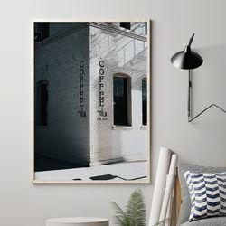 카페 감성 그림 A3 포스터+알루미늄액자