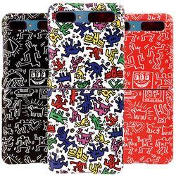 스키누 x  Keith Haring 갤럭시 Z플립 하드 패턴케이스