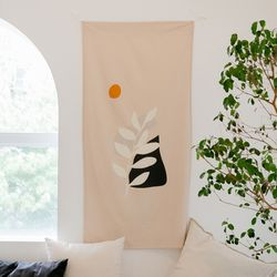 MOMEENT PLANT 인테리어 패브릭포스터 가리개커튼 70x140cm