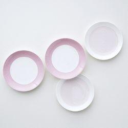 코지 핑크 접시세트 4p