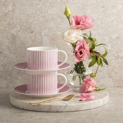 코지 핑크 커피세트 4p