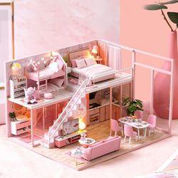 [adico]DIY 미니어처 하우스 - 핑크 펜트하우스
