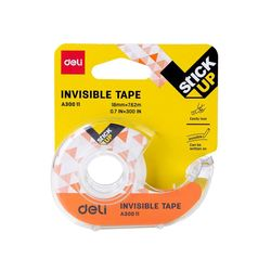 DELI 델리 밀크 반투명 휴대용 접착테이프 디스펜서 18mm