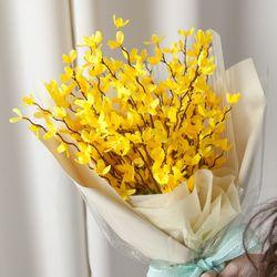 개나리꽃다발 55cmP 조화 꽃다발 FMBBFT