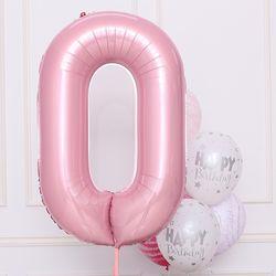 숫자은박풍선 대 [0] 핑크