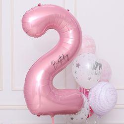 숫자은박풍선 대 [2] 핑크