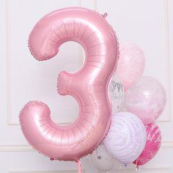 숫자은박풍선 대 [3] 핑크