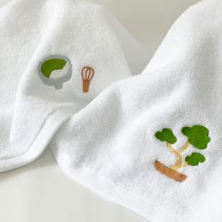 NOTA GREEN TEA TOWEL SET 노타 녹차 페이스 타올 세트