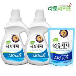 아토세이프 아기세제SET (세제 2L 2개+ 섬유유연제 1.3L 1개)