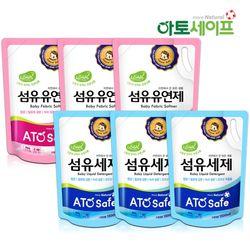 아토세이프 아기세제SET (세제 1.3L 3개+ 섬유유연제 1.3L 3개)