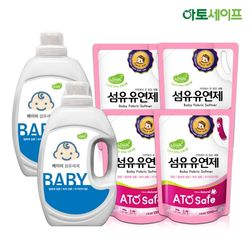 아토세이프 아기세제SET (세제 2L 2개+ 섬유유연제 1.3L 4개)
