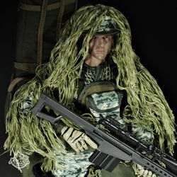 Camouflage Sniper 얼룩무늬 스나이퍼 저격수 NB07B