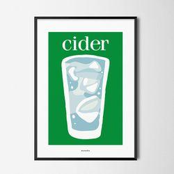 사이다2 M 유니크 인테리어 디자인 포스터 카페A3(중형)