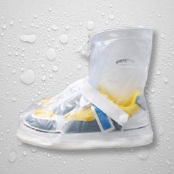 PVC 방수 신발커버(235-240mm) (화이트)