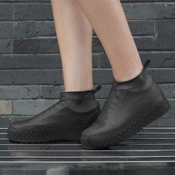실리콘 방수 신발커버(250-270mm) (블랙)