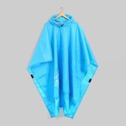 사각 와이드 판초우비(블루)